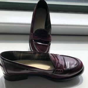 Aquatalia Women's Leather Penny Loafers Size 38